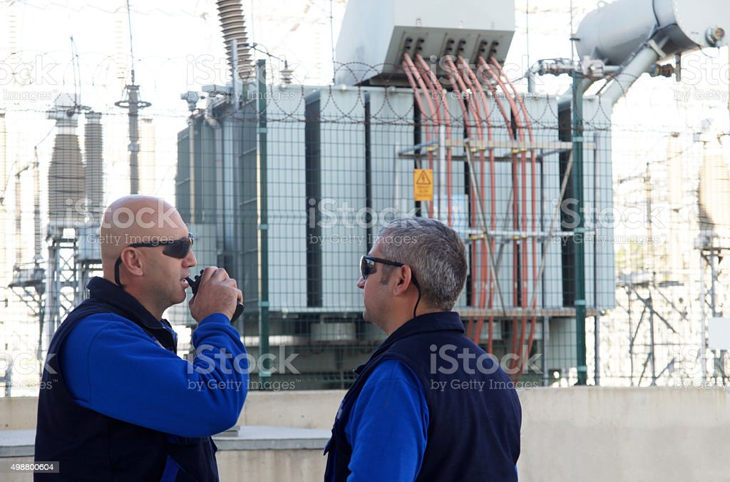 men at work stock photo