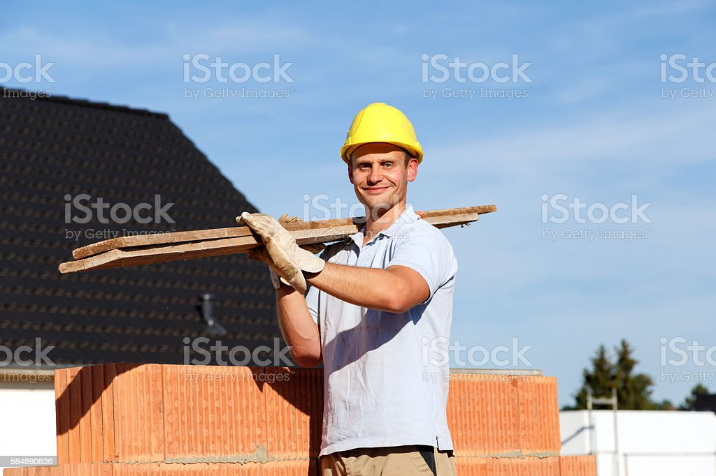 men at work stock photo