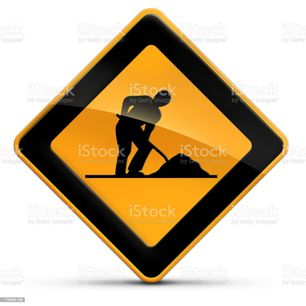 men at work road sign royalty-free stock photo