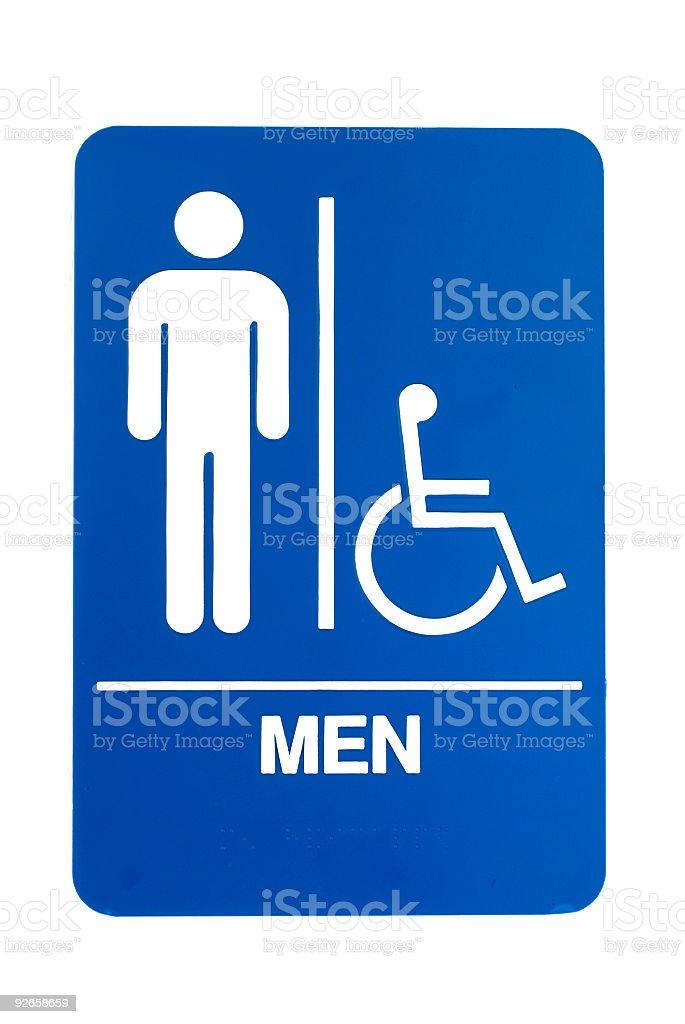Men Bathroom sign royalty-free stock photo
