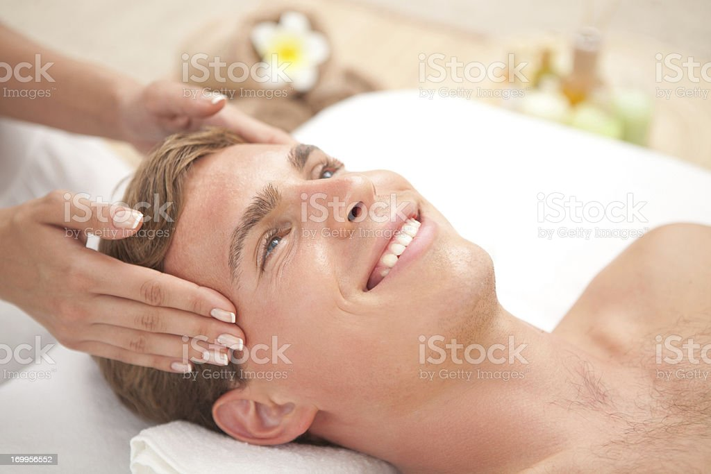 Men beauty and relax time. royalty-free stock photo