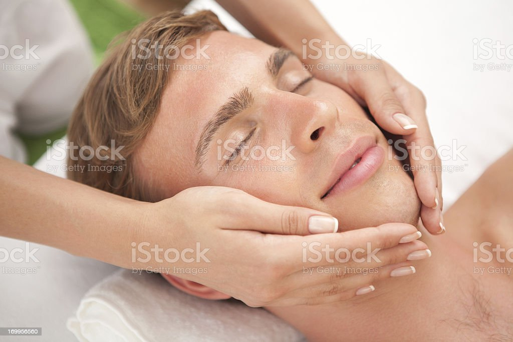 Men beauty and relax time royalty-free stock photo