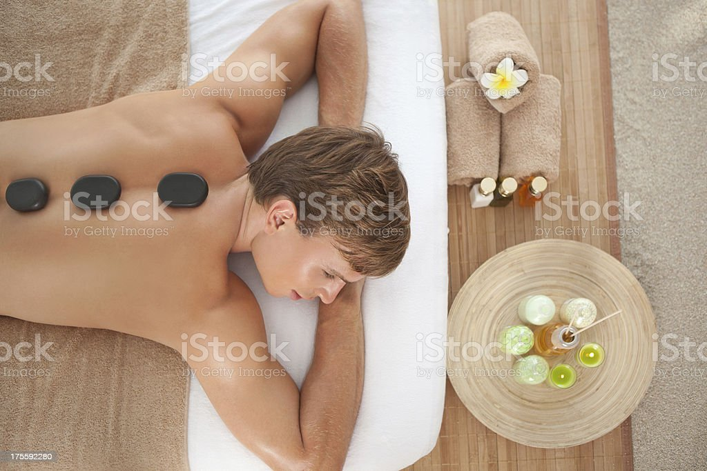 Men beauty and relax time. stock photo