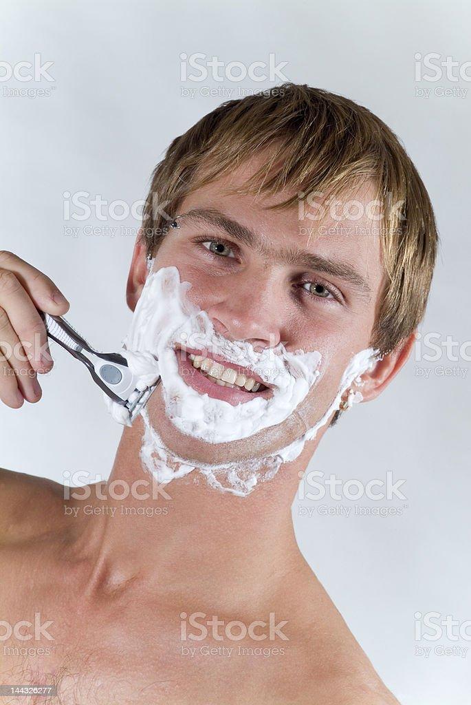 Men before shaving royalty-free stock photo