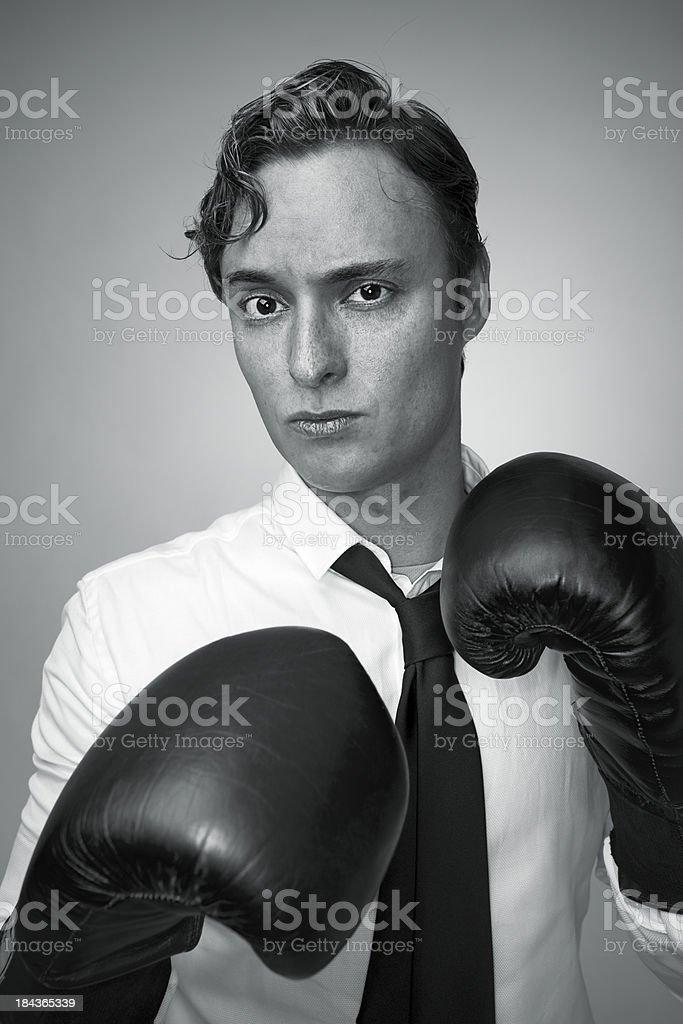 Men boxing royalty-free stock photo