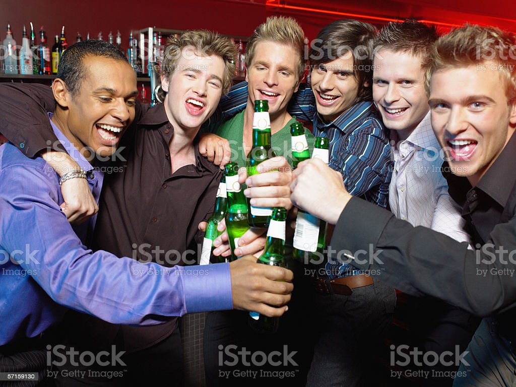 Men drinking in a bar royalty-free stock photo