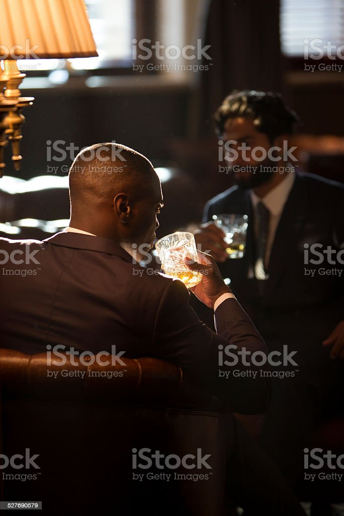 Men Drinking Whisky stock photo