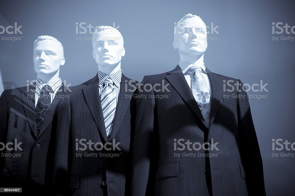 Men dummies in suits royalty-free stock photo