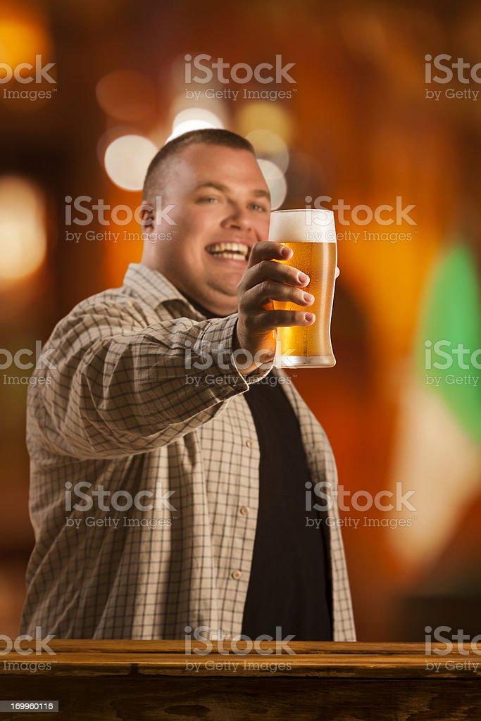 Men enjoying beer royalty-free stock photo