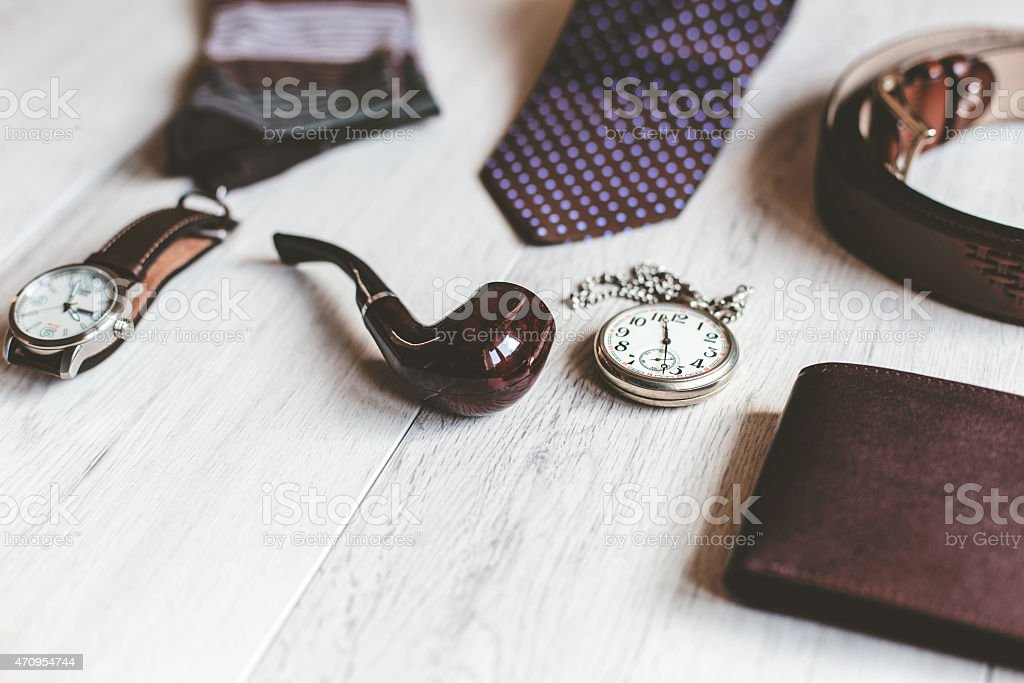 Men fashion. Men accessories. stock photo