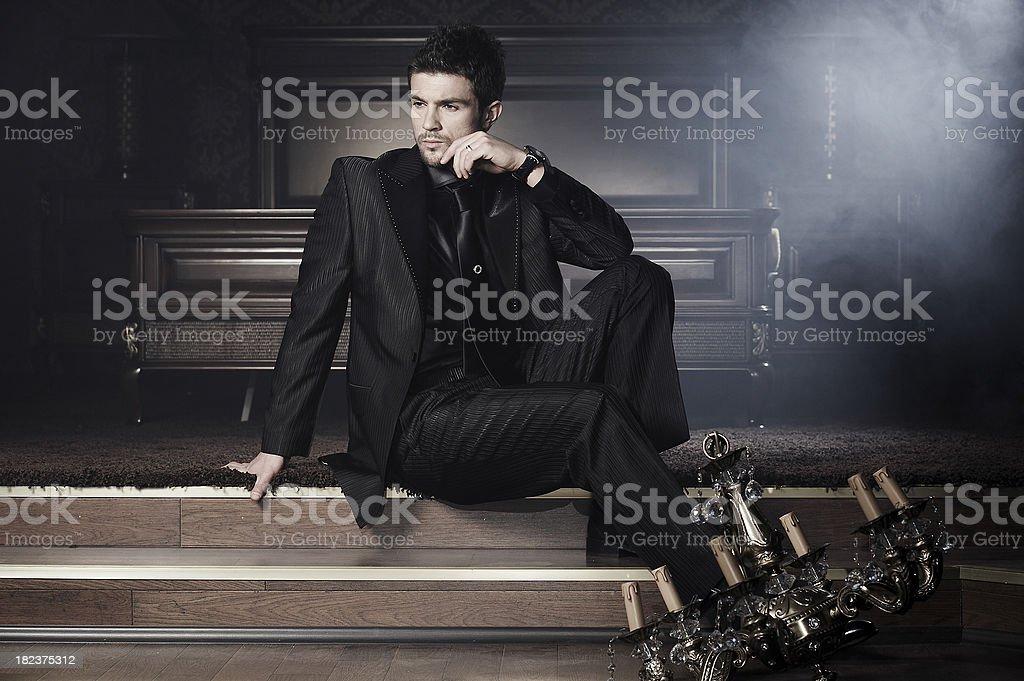 men fashion stock photo