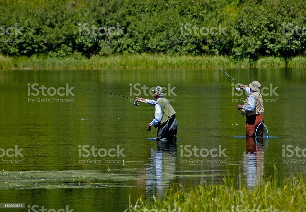 Men fishing royalty-free stock photo