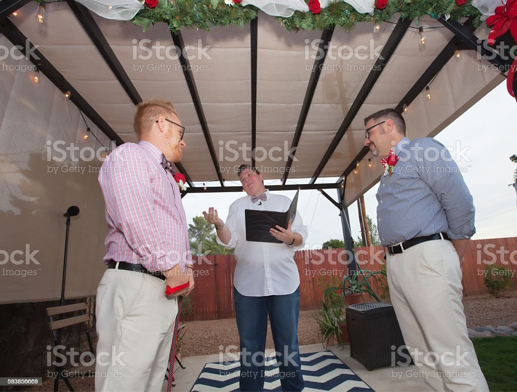 Men Getting Married stock photo