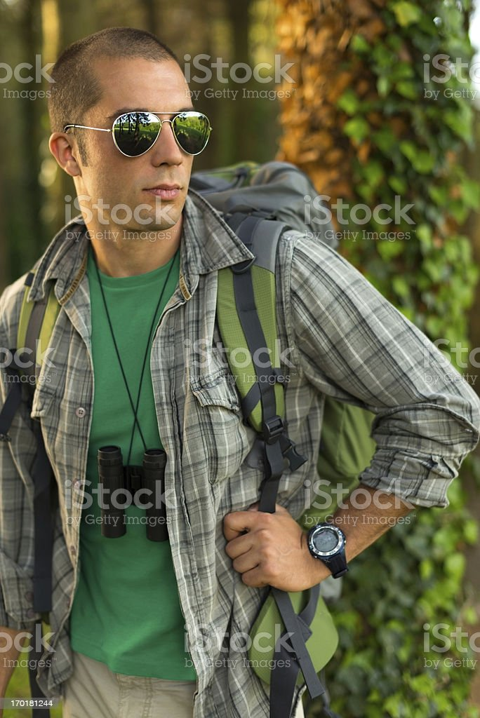 Men Hiking in The Nature royalty-free stock photo