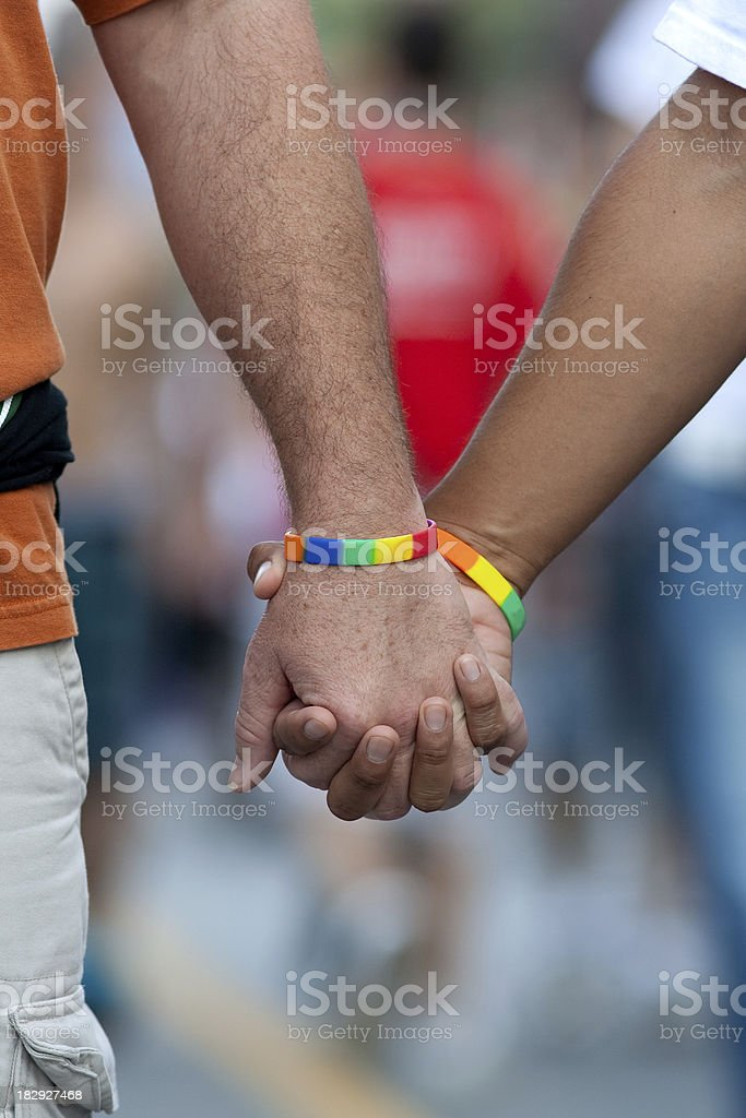 Men Holding Hands #4 royalty-free stock photo