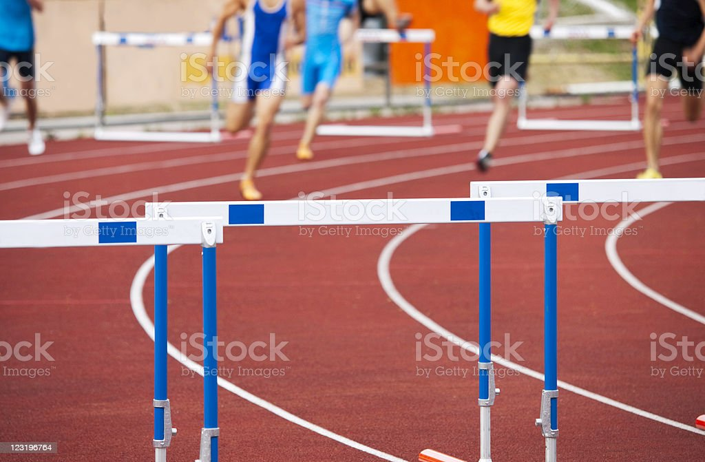 Men Hurdling royalty-free stock photo