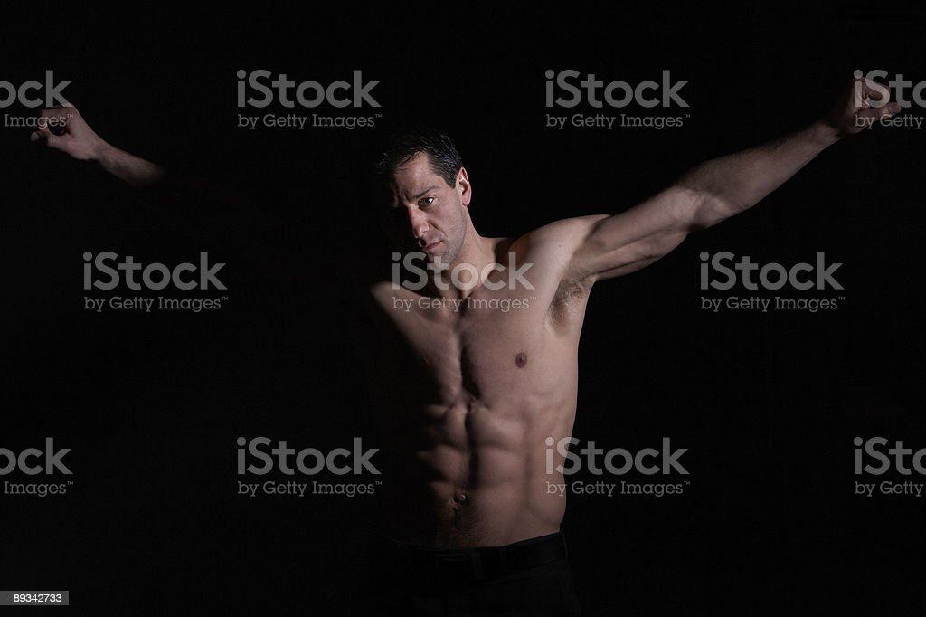 Men in Agony stock photo