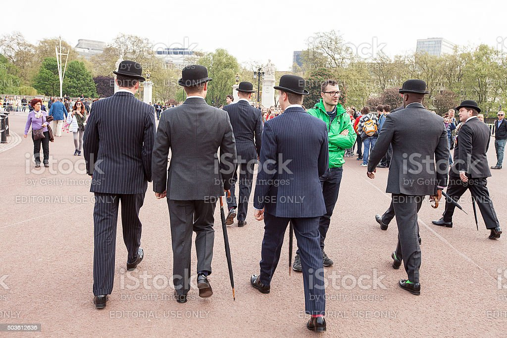 Men in Bowler Hats stock photo