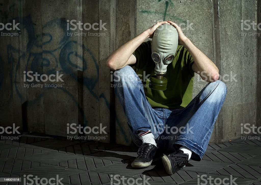 Men in gas-mask. royalty-free stock photo