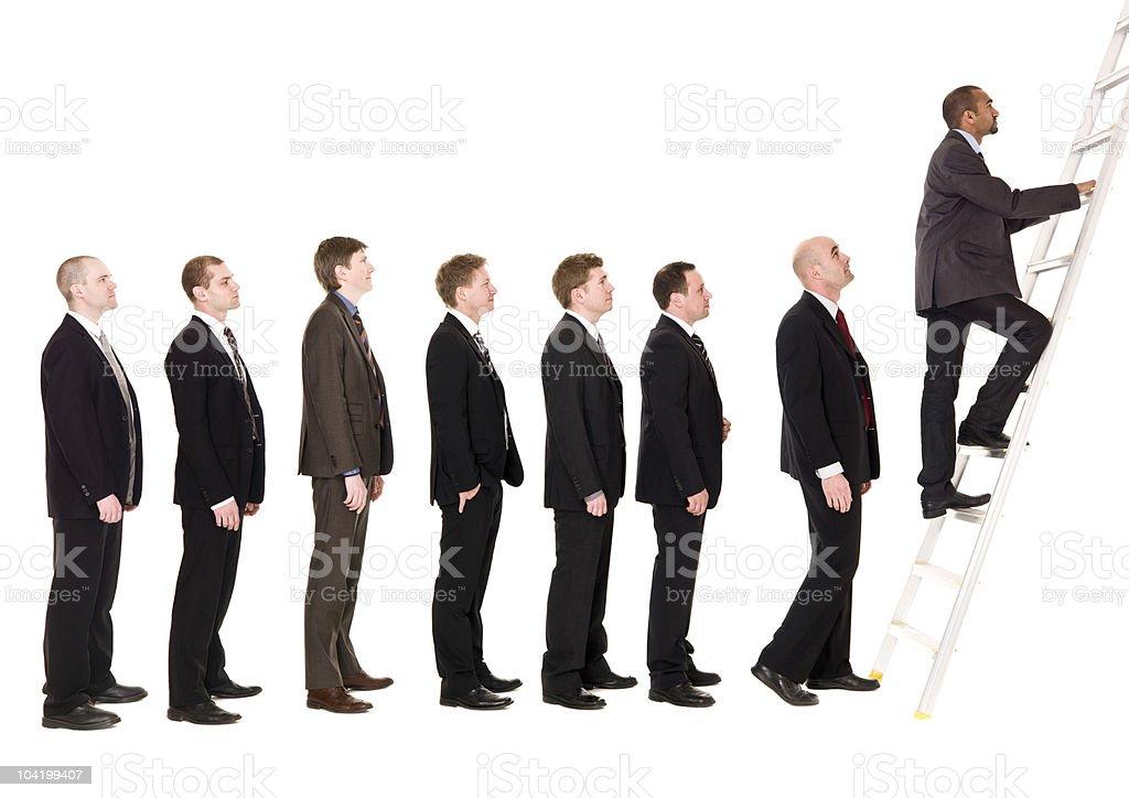 Men in line royalty-free stock photo