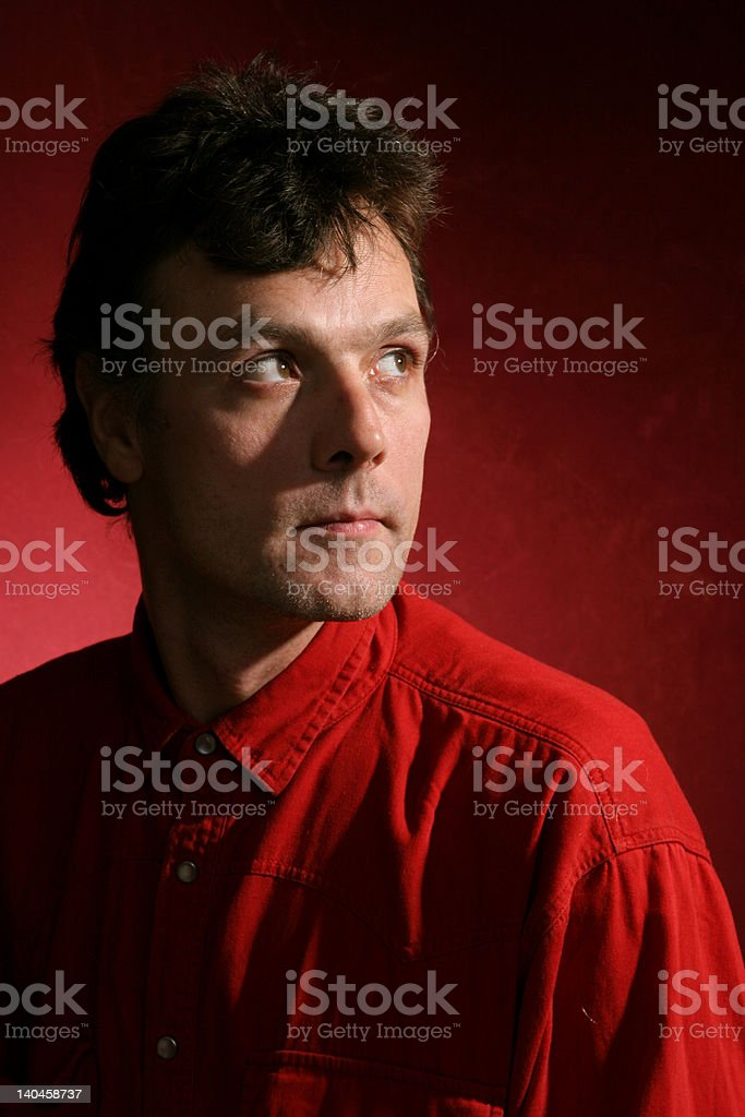 men in red royalty-free stock photo