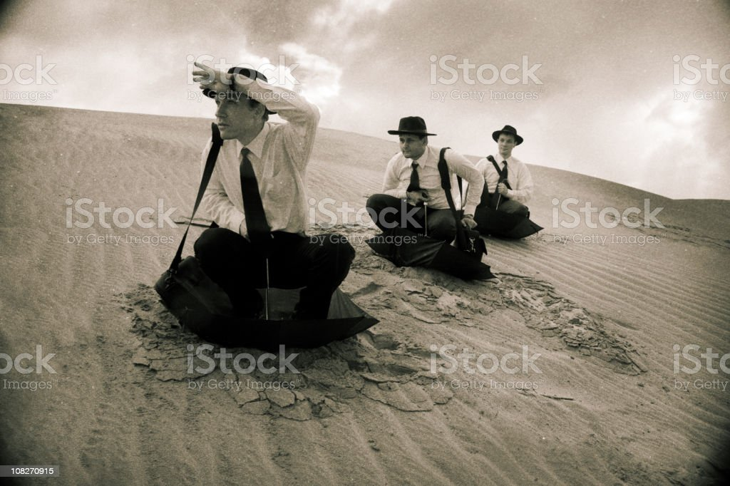 Men in sands series royalty-free stock photo