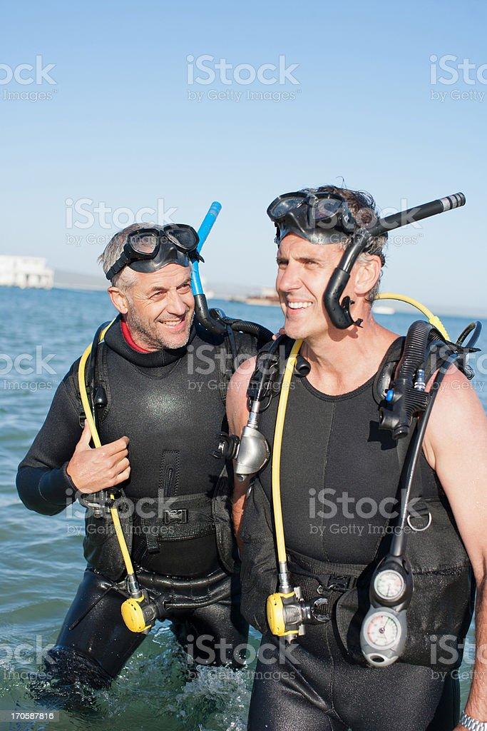 Men in scuba gear royalty-free stock photo