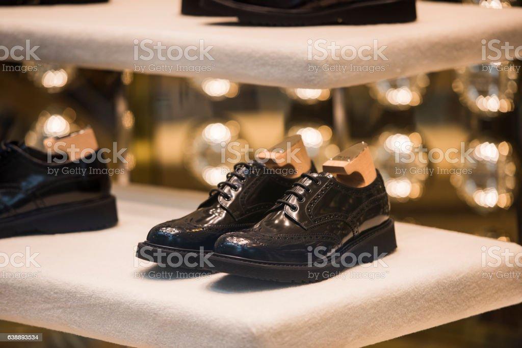 men luxury shoes stock photo