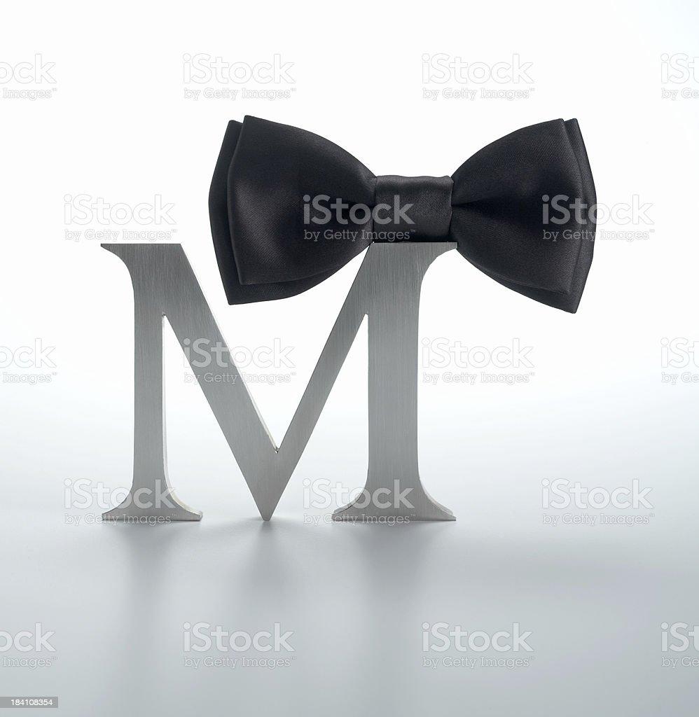 M - Men (Bow tie) royalty-free stock photo