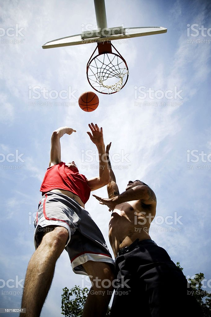 Men Playing Basketball royalty-free stock photo