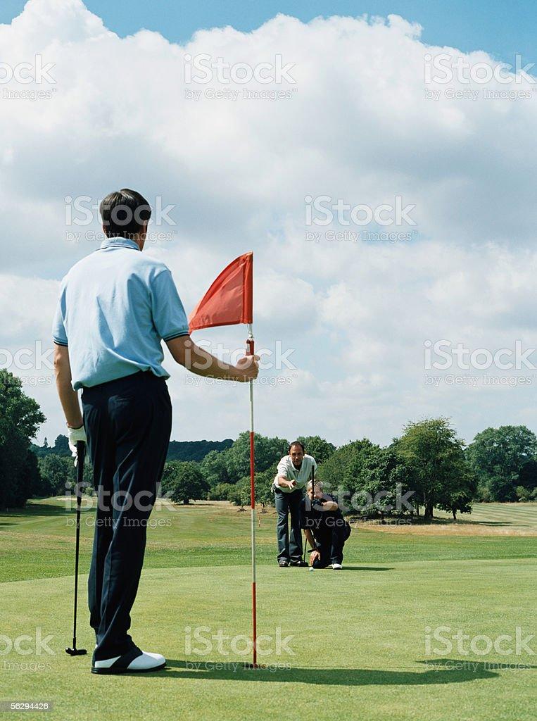 Men playing golf royalty-free stock photo