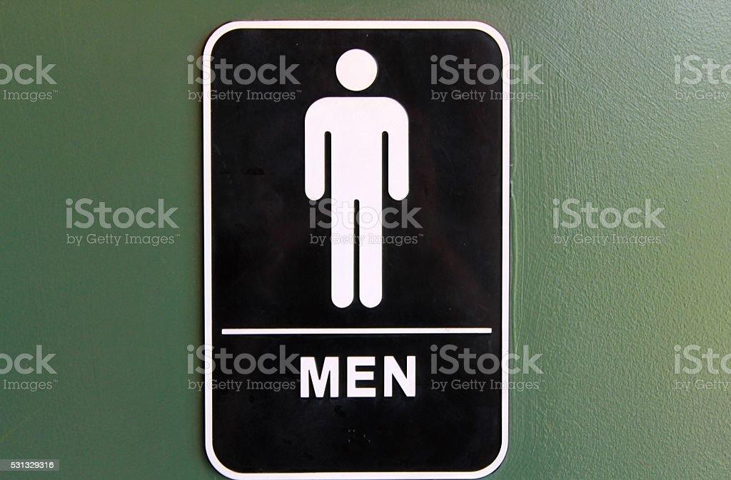 Men Restroom stock photo