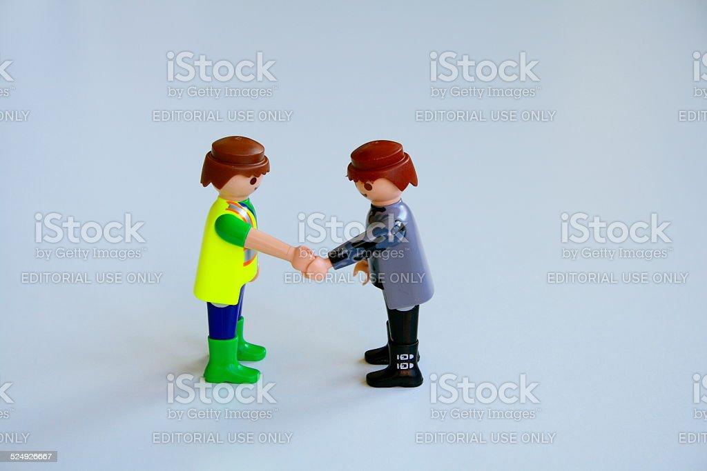 men shaking his hands stock photo