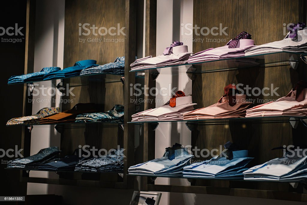 men shirts stock photo
