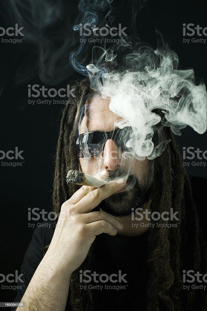 Men smoking royalty-free stock photo