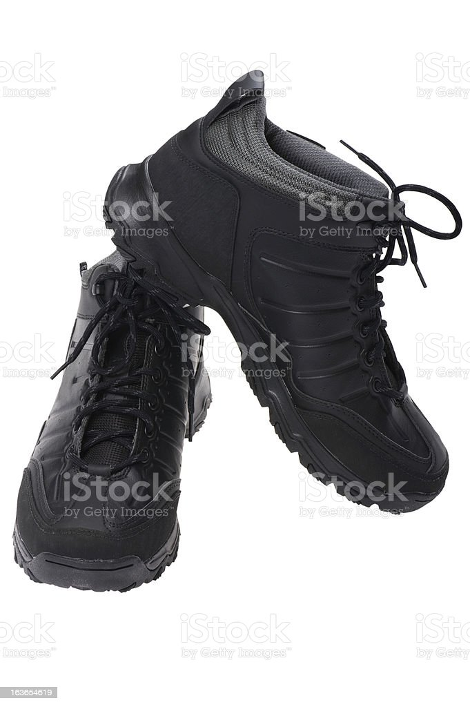 Men sports winter boots on white royalty-free stock photo