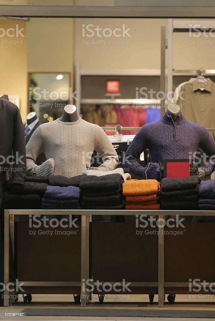 Men Store Interior royalty-free stock photo