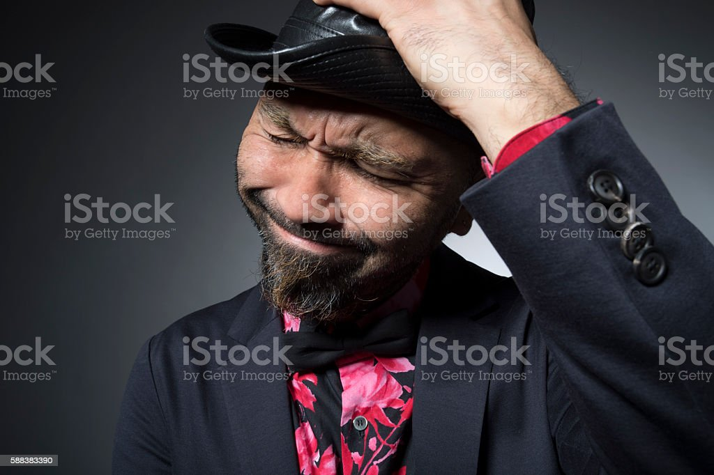 Men suffering a problem stock photo