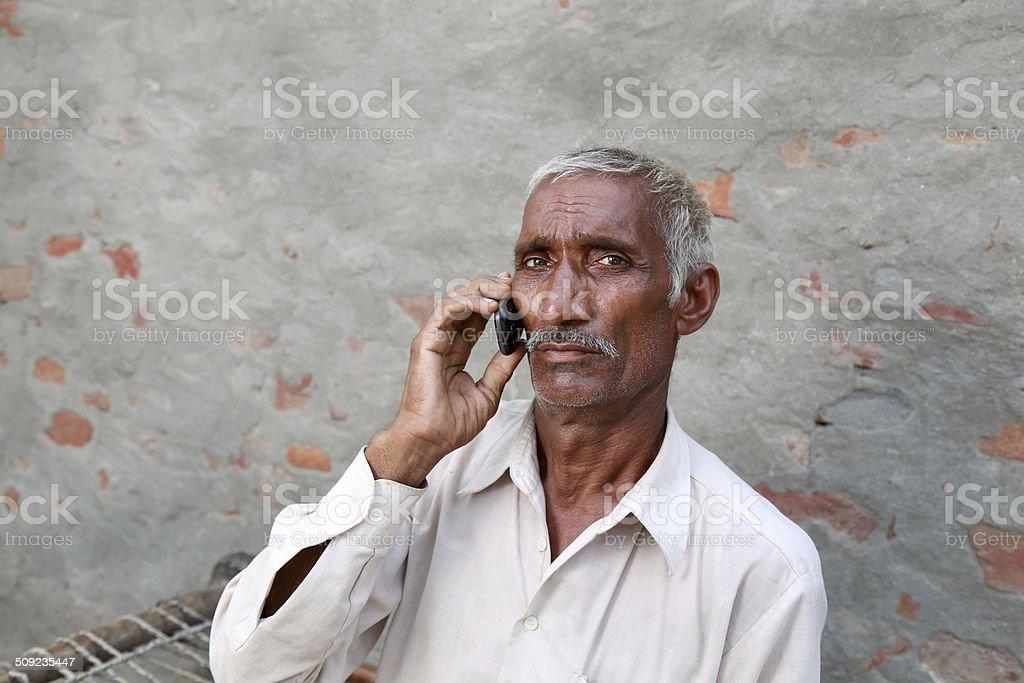 Men Talking on the Phone stock photo