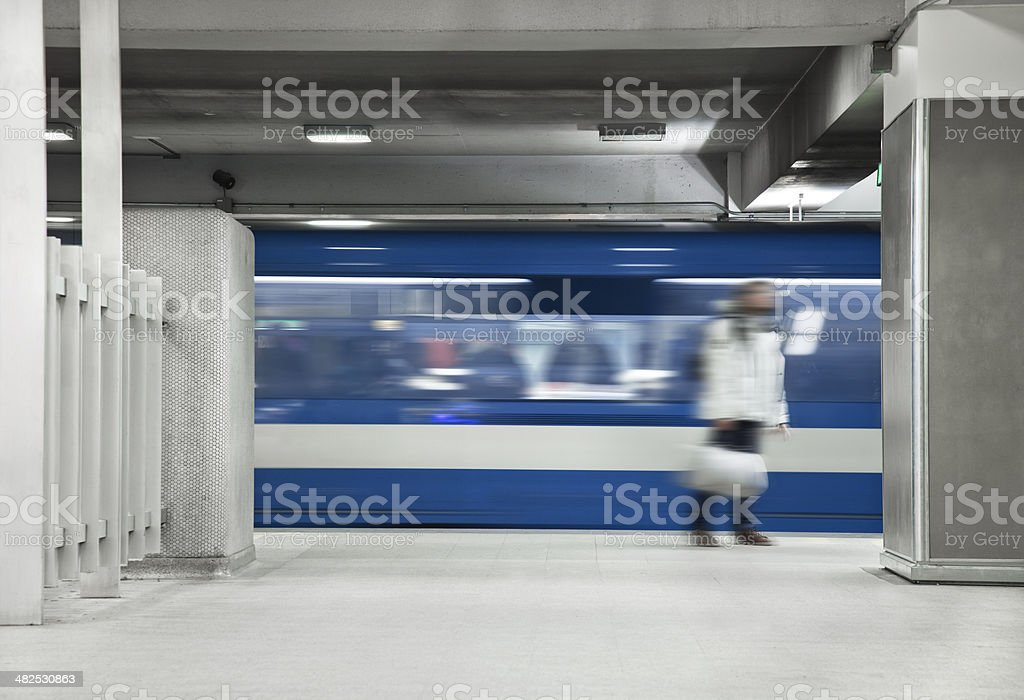 Men Waiting the metro royalty-free stock photo