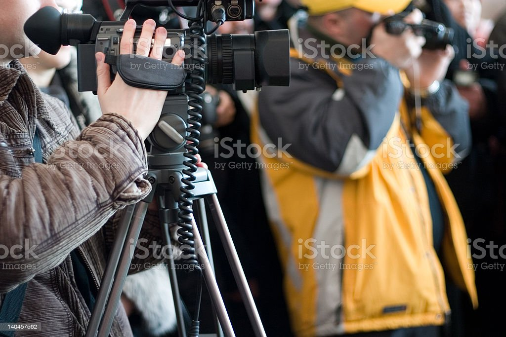 men with cameras royalty-free stock photo