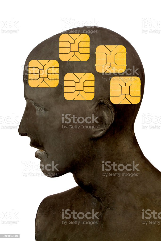 Men with Phone Cards stock photo