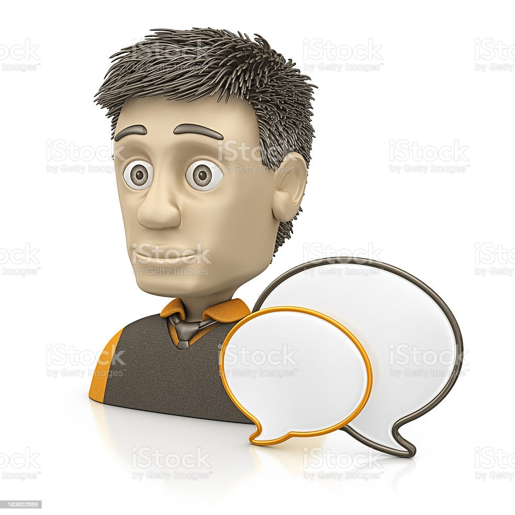 men with speech bubble royalty-free stock photo