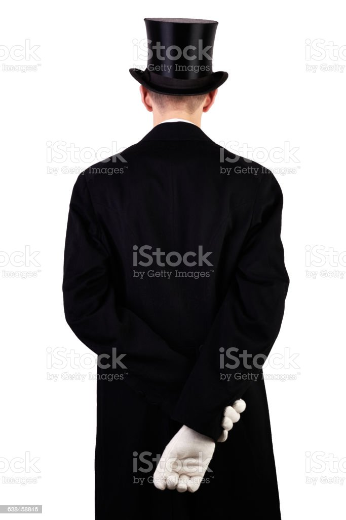 Men with top hat stock photo