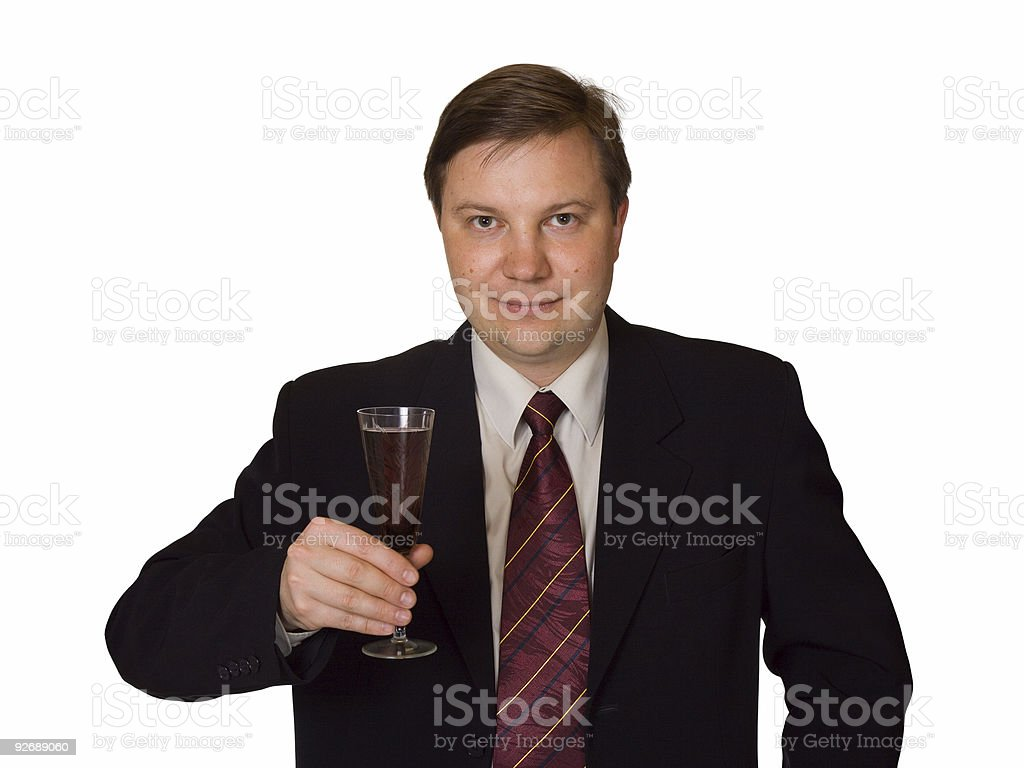 Men with wine glass royalty-free stock photo