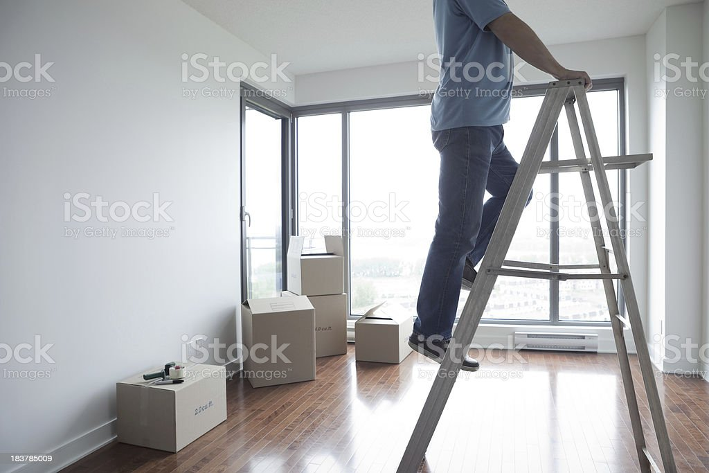 Men Working On Moving Day royalty-free stock photo