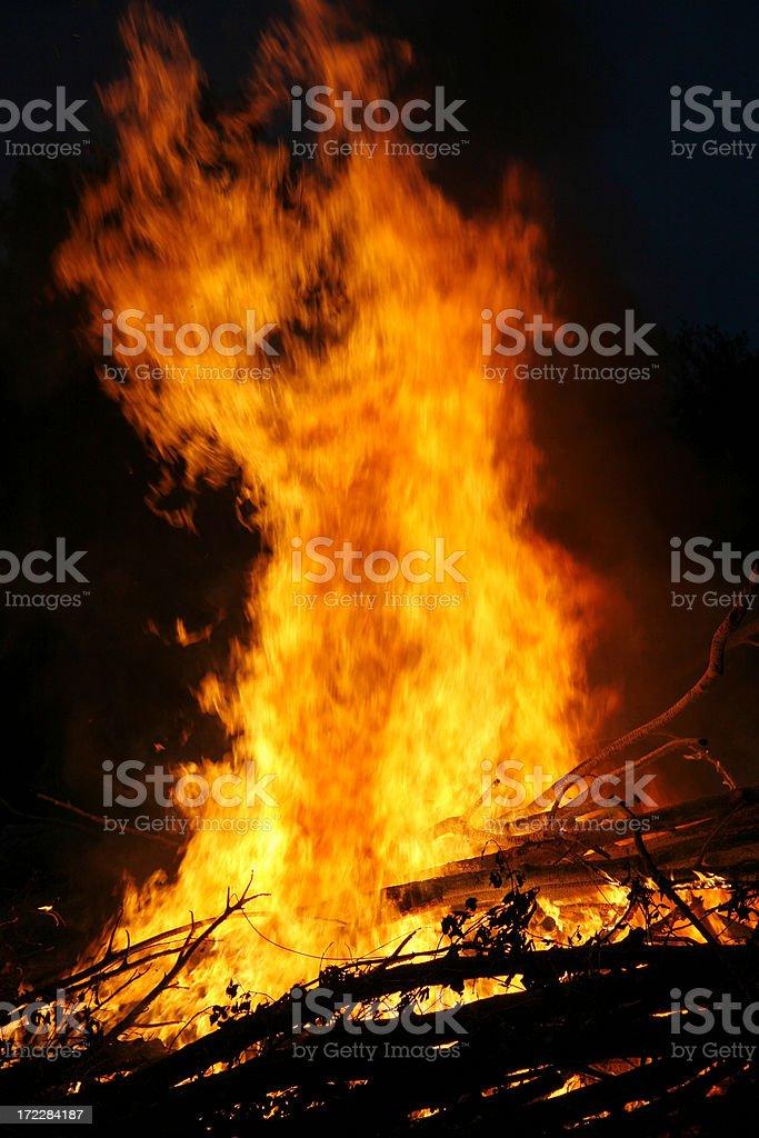 Menacing fire stock photo