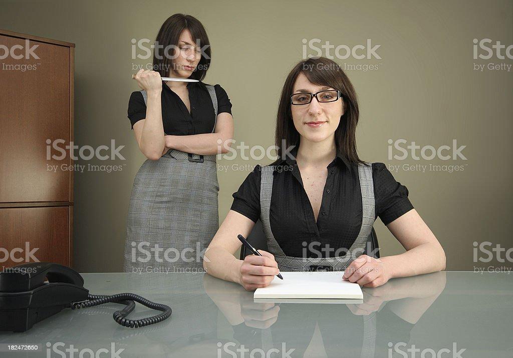 Menacing Multiple Personality stock photo