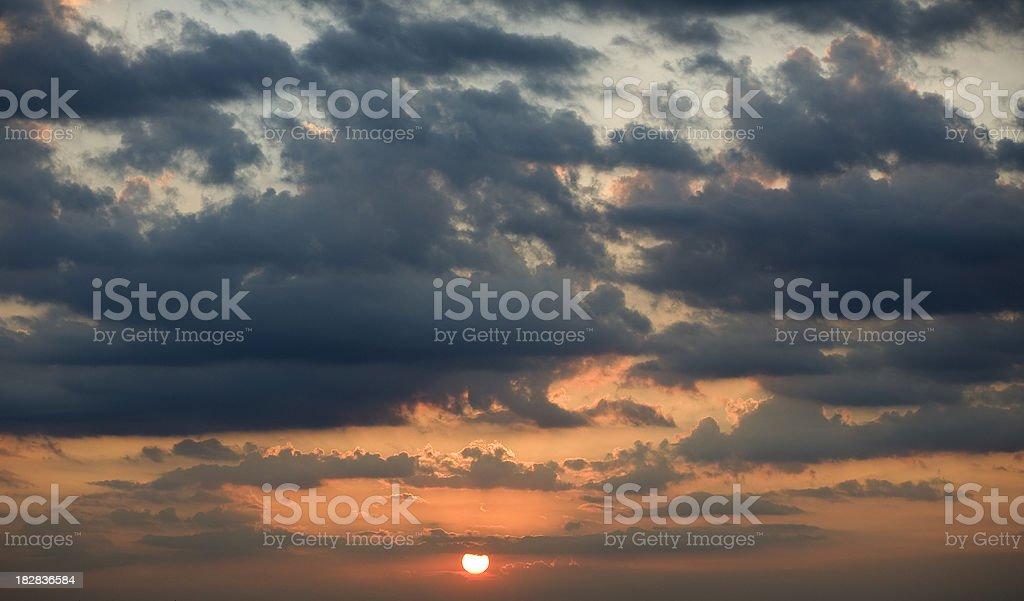 menacing sky, royalty-free stock photo