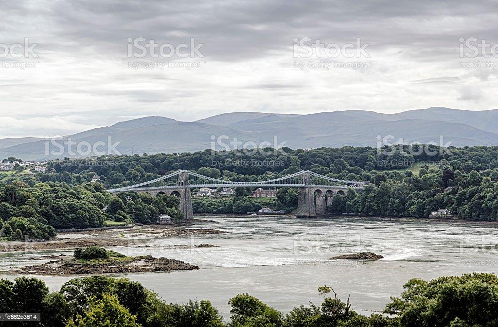 Menai Bridge, Anglesey stock photo